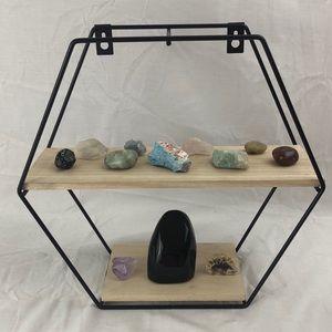 Minimalistic wall hanging display shelf